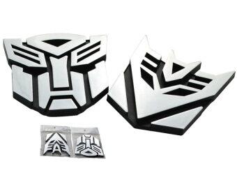 Harga Car 3D Transformer AUTOBOT Logo Decorate Sticker