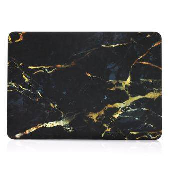 "Harga LYBALL Marble Black Gold Plastic Rubberized Hard Folio Case Cover For MacBook Pro13"" A1278"