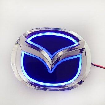 Harga Mazda Emblem Badge Electroplate Logo with Led Light for Mazda2 Mazda3 Mazda-cx7 Mazda8(12 cm*9.5 cm cm Blue)