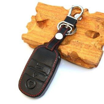 Harga black Leather Car key case Smart key cover For KIA RIO K2 Cerato Optima K3 K5 Sportage Sorento