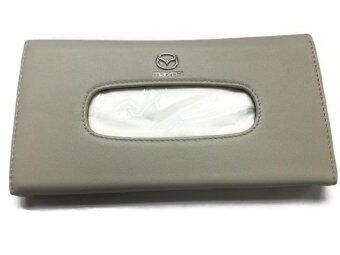 Harga Mazda Premium Leather Sun Visor Tissue Clip White