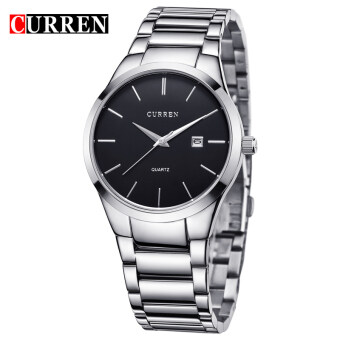 Harga CURREN Full Stainless Steel Men Watch 8106 SILVER BLACK