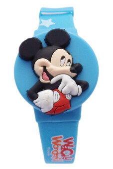 Harga Disney Mickey Mouse Mix And Max Blue Rubber Strap Watch MSSQ76(3IN1)-03A
