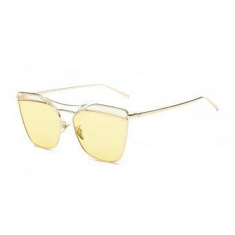 Harga JINQIANGUI Sunglasses Women Irregular Sun Glasses Yellow Color Brand Design