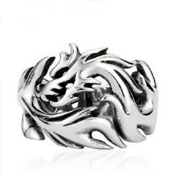 Harga Amango Biker Men's Ring Dragon Pattern Stainless Steel Gothic Dragon Claw