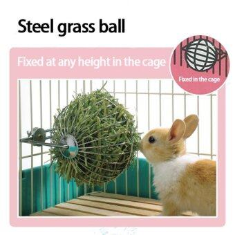 Harga Free shipping New Pet Supplies Hay Dispenser Iron Ball Food Feeder For Chinchilla Guinea Pig Rabbit Hanging Bowl Grass Dispenser With shelves diameter 13