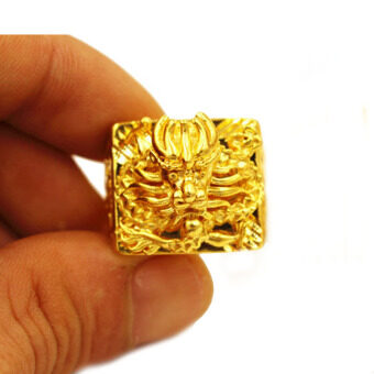 Harga MoNo 24K Gold Plated Fine Dragon Pattern Ring (Gold)