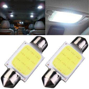 Harga COB LED 3W Auto Car Interior Dome Festoon Map Reading LED Light Bulbs Lamp (Length 39mm