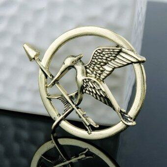 Harga New Arrival Movie Jewelry The Hunger Game 3 Bird Brooches Alloy Pins Couple Brooches(Color:Bronze)