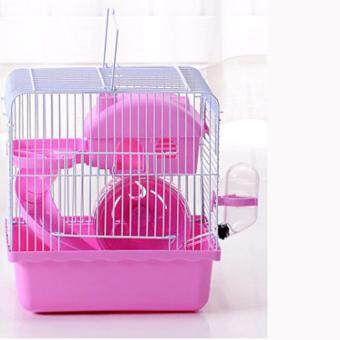Harga Hot sell Recommended Goods Large Luxury Cages For Hamsters Transport Super Hamster Cage Accessories Plastic Guinea pigs House#L23 * W16.5 * H25.5cm