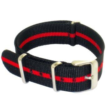 Harga Twinklenorth 20mm Black Red Single Stripe Nato Strap Nylon Military Watch Band Strap Watchband NATO-010