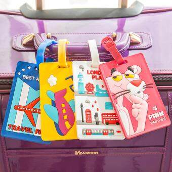 Harga 4 IN 1 Travel Funny Luggage Lable Suitcase  Secure Bag Tag