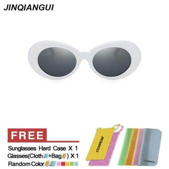 Harga JINQIANGUI Sunglasses Women Rectangle Plastic Frame Sun Glasses White Color Eyewear Brand Designer UV400