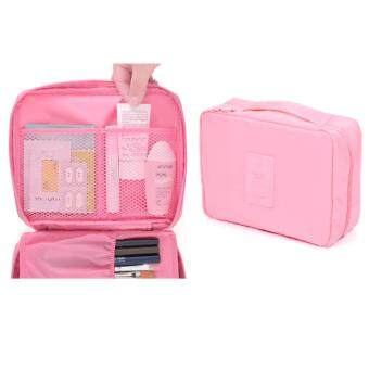 Harga GoTravel 7001 Korean Multipurpose Travel Organizer Kit Pouch Bag (Pink)