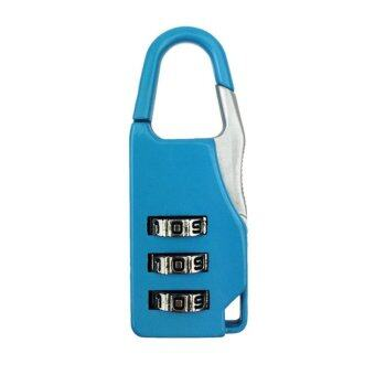 Harga Mini 3 Digit Combination Security Safe Travel Luggage Code Lock Padlock Blue