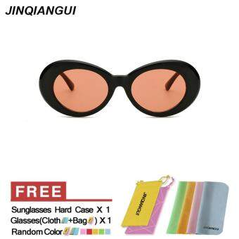 Harga JINQIANGUI Sunglasses Women Rectangle Plastic Frame Sun Glasses Pink Color Eyewear Brand Designer UV400