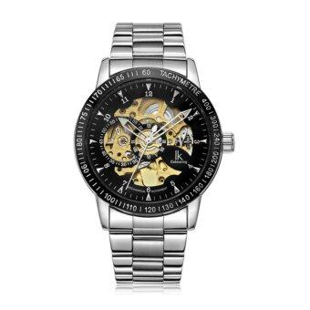 Harga IK Colouring Fashion Mechanical Skeleton Watch Auto Stainless Steel Men's Watches Wristwatch 16 Style