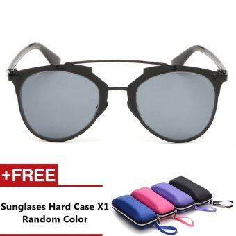Harga Miami Brand Unisex Retro Aluminum Sunglasses Polarized Lens Vintage Eyewear Accessories Sun Glasses For Men/Women - Black