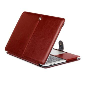 "Harga 2016 Latest Premium Quality PU Leather Book Cover Clip On Sleeve Case Cover for Newest Apple MacBook Pro 13.3"" A1706&A1708 Brown"