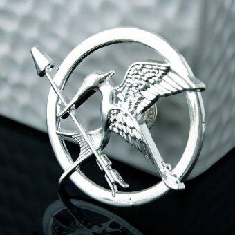 Harga New Arrival Movie Jewelry The Hunger Game 3 Bird Brooches Alloy Pins Couple Brooches(Color:Silver)
