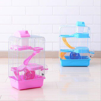 Harga 2016 Hot sell pet gaiola Multi-storey castle hamster cage Travel carry Novice practical cage hamster accessories