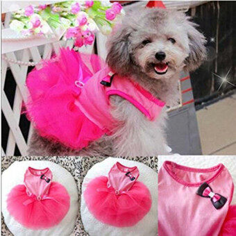 Harga HengSong Pet Dogs Puppy Butterfly Corsage Puff Tutu Dresses Costumes for Pets Dogs S Rose Red