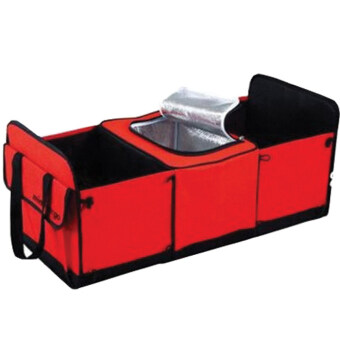 Harga Car Boot Compartment Organizer Bag Heat Insulator Inside – Red G0030-RD