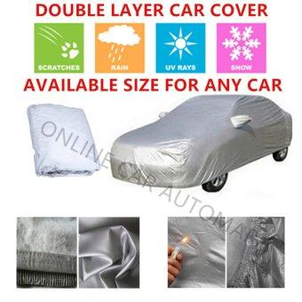 Harga High Quality Universal Fit Double Layers Waterproof PEVA PVC Car Cover Parking Cover For Honda Jazz Yr 2003-2007/Jazz Yr 2008-2013/Jazz Yr 2014-2016
