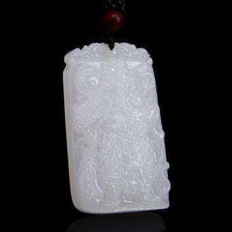 Harga The new Xinjiang Guan Gong Guan Afghanistan white jade jade pendant pendant male martial god of wealth