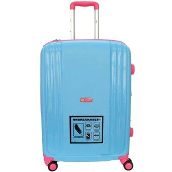 Harga Handry 28 inch Anti-Break PP Hard Case Trolley (Blue Pink)