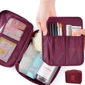 Harga GoTravel 7001 Korean Multipurpose Travel Organizer Kit Pouch Bag (Maroon)