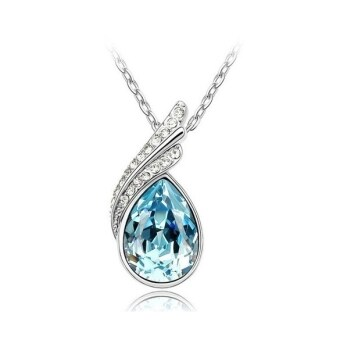 Harga Jo.In 18K GP Crystal Necklace Pendant Options 4 Colours (Blue)