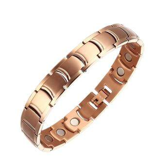 Harga Moocare Rose Gold Magnetic Bracelet Titanium Health Powerful Balance Magnetic Golf WristBands
