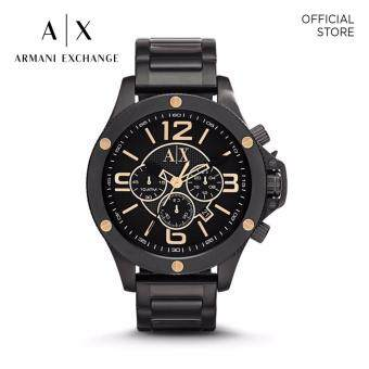 Harga ARMANI EXCHANGE BLACK STAINLESS STEEL WATCH