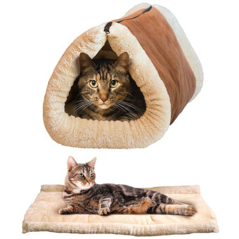 Harga Cat Bed Tube Couch Mat Home Warm Plush Pet House
