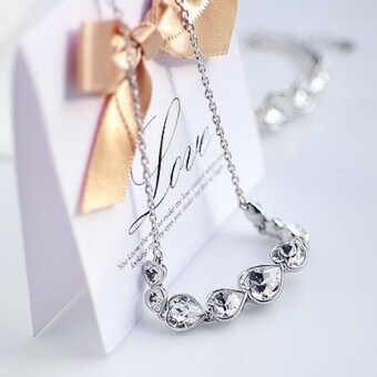 Harga Vivere Rosse Heart Beat Necklace (Silver)