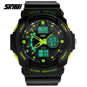 Harga SKMEI 0955 Men's LED Analog Digital Alarm Sport Watch (Blue)