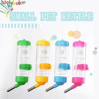 Harga Free shipping Hot Sales Hamster 80ML drinking water bottle Can be fixed, Steel ball Drinking water container Suitable for small pets