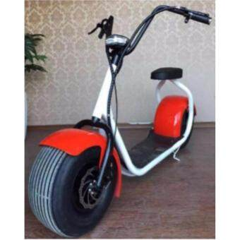 Harga Electric Big Wheels Fat Tire Harley Scooter (Red)