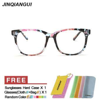 Harga JINQIANGUI Women's Eyewear Fashion Square Glasses Multicolor Frame Glasses Plain for Myopia Women Eyeglasses Optical Frame Glasses