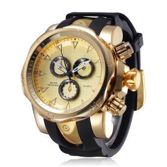 Harga kaibo SHHORS Military Watches Men New Brand Fashion Sport Watch Silicone Band Quartz Wristwatch Hot Sale (gold gold)