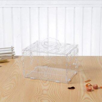 Harga 2017 Hot Sales that Free shipping Transparent DIY Hamster cage Easy assembly Cleaning Traveling carries observation cage#L30XW20XH20cm