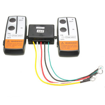 Harga NEW 24 Voltage Recovery Winch Crane Wireless Remote Controller Twin Handset Kits