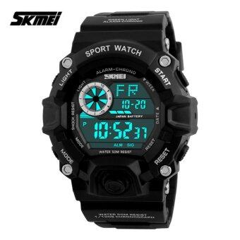 Harga SKMEI 1019 Men's Military Fashion LED Digital Sports Watch (Black)
