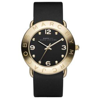 Harga MARC BY MARC JACOBS MBM1154 Amy Black Dial Gold Ion-Plated Bezel Ladies Watch