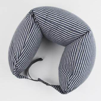Harga MUJI Well fitted Neck Cushion U Shape Travel Neck Pillow Cushion Memory Foam Pillow Ergonomically Shaped Pillow and Seat Memory (Navy x Grey)