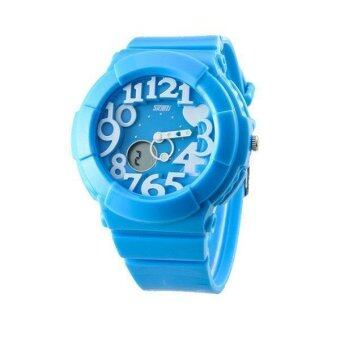 Harga SKMEI 1020 Kid's Waterproof Analog + Digital Wrist Watch - Blue