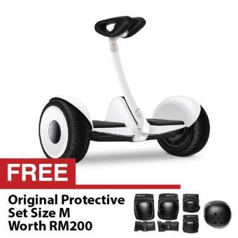 Harga Xiaomi Smart Ninebot Mini Segway Mi Self Balancing Scooter with Bluetooth Feature and Phone Control Hoverboard White FREE Original Protective Set Size M