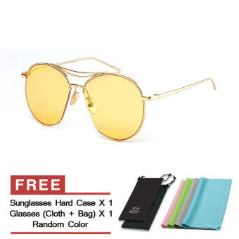 Harga JINQIANGUI Sunglasses Women Oval Sun Glasses Yellow Color Brand Design