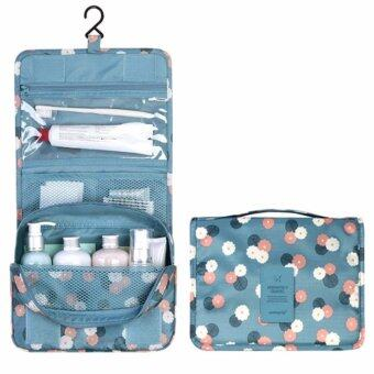 Harga GoTravel 7007 Korean Multipurpose Travel Organizer Kit Pouch Cosmetic Bag with Hook (Blue)